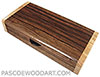 Handmade wood box - Decorative wood slim box, desktop box made of Macassar ebony with figured maple burl ends