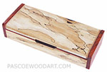 Spalted maple box - Handmade decorative wood desktop box - wood pen box