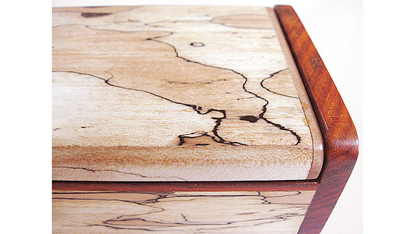 Splated maple desktop box closeup
