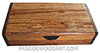 Handmade slim wood box - Decorative wood desktop box made of Honduras rosewood