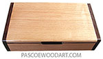 Handmade wood box - Slim decorative wood box, desktop box made of alder with Honduras rosewood