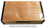 Handmade wood box - Decorative slim wood box, desktop box made of alder with Asian ebony ends