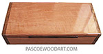 Handmade wood box - Decorative wood  slim desktop box made of pearwood with African amazakoue ends