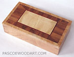 Handmade decorative wood desktop box - Figured western maple, Honduras rosewood