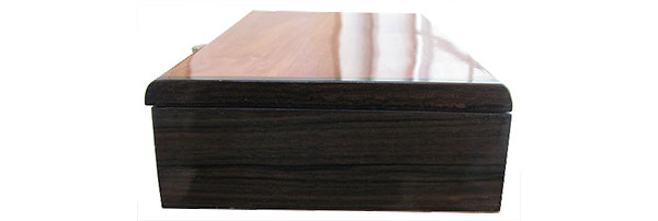 Macassar ebony box end - Handmade slim wood box