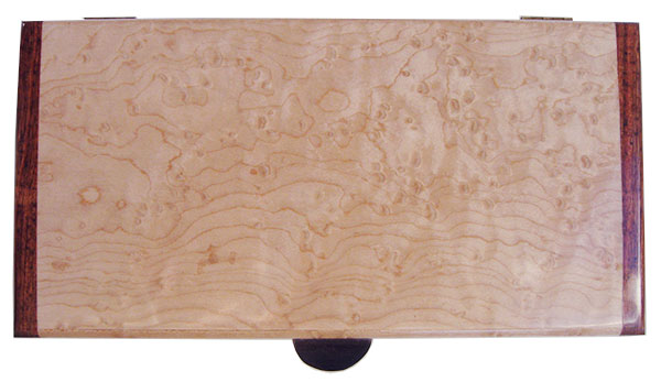 Birds eye maple box top - Handmade slim wood box