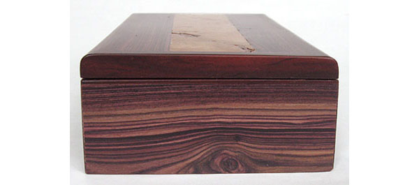 Bois de rose wood handmade box end - decorative rectangular wood box