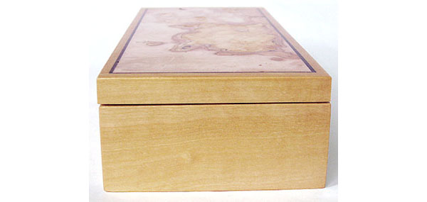 Ceylon satinwood box end - Handmade decorative wood box