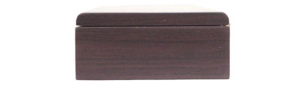 Pen box Bois de rose side view - handmade wood box