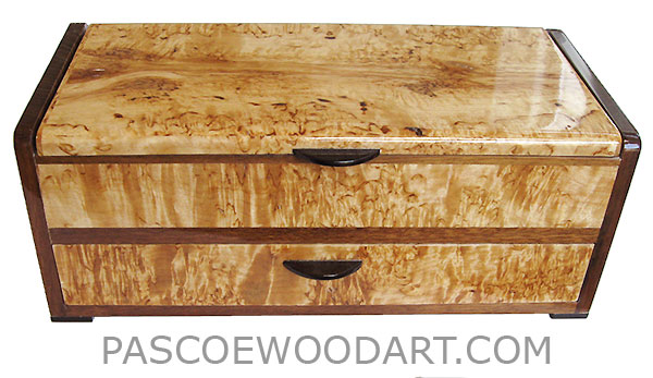 handcrafted wood box with drawer decorative wood box masur birch shedua - Decorative Wooden Boxes