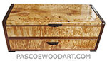 Handcrafted wood box with one drawer - Decorative wood box made of masur birch, shedua