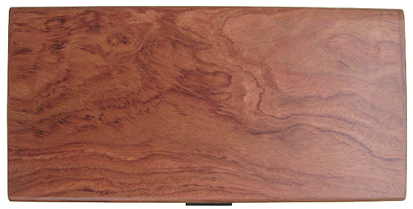 Bubinga box top - Handcrafted wood box with one drawer