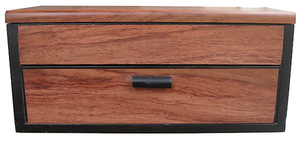 Bubinga box front - Handcafted wood box with  one drawer