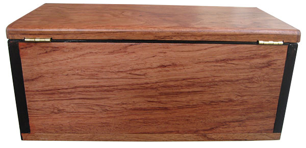 Bubinga box back - Handcrafted wood box with a drawer
