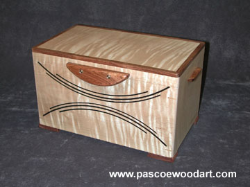 Decorative Hardwood Box - CD or DVD storage box
