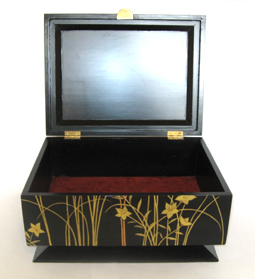 Artistic wood box - Flower in Glass