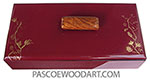 Handmade handpainted cranberry color wood box HP-6