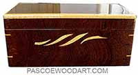 Handmade wood box - Decorative wood deep keepsake box made of sapele