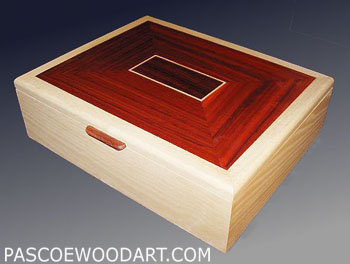 Handmade wood large keepsake box