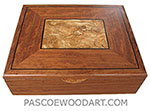 Handcrafted large wood box - Decorative large wood keepsake box made of bubinga with spalted maple, ebony inlaid top