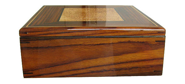 Indian rosewood box side - Handcrafted large decorative wood keepsake box