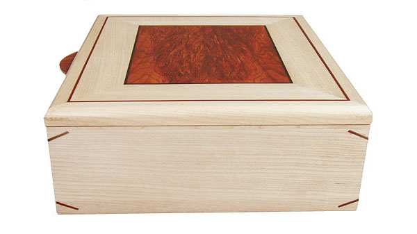 Quarter-sawn bleached ash box side - Handcrafted large wood box - keepsake box