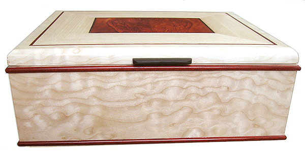 Beached quilted western maple box front - Handmade decorative large keepsake box