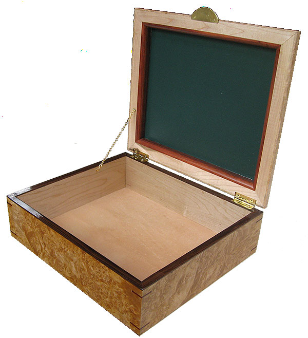 Handcrafted large wood box - Large decorative keepsake box, document box