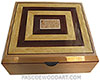 Handcrafted large wood box - Decorative wood large keepsake box or document box made of European alder with Ceylon satinwood, snakewood framed top