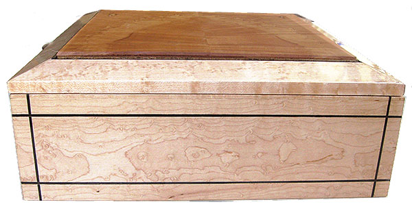 Birds eye maple box side - Handcrafted large wood box
