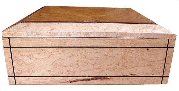 Birds eye maple box side - Handcrafted large wood keepsake box