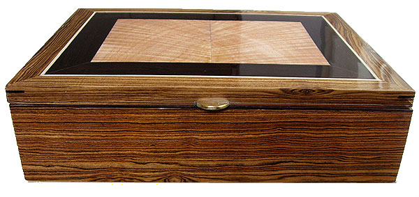 Bocote box front - Handcrafted wood box - Decorative large wood keepsake box