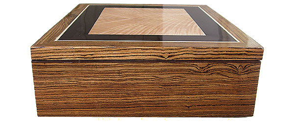Bocote box side - Handcrafted wood box
