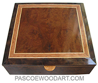 Handmade large wood box - Decorative wood keepsake box made of campher burl