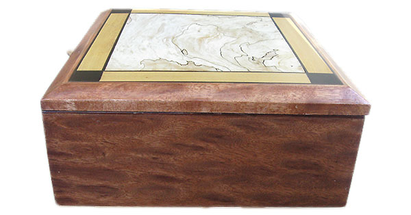Leopard mahogany box side - Handmade wood box