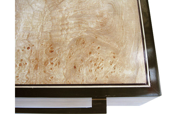 Spalted maple burl framed in African blackwood - Handmade wood box
