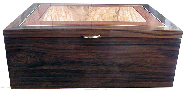 East Indian rosewood box front - Handmade wood box