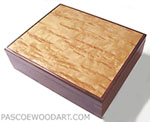 Large keepsake box - Decorative wood keepsake box - Walnut, Karelian birch burl