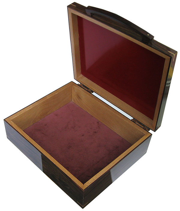 Handmade large wood box - open view