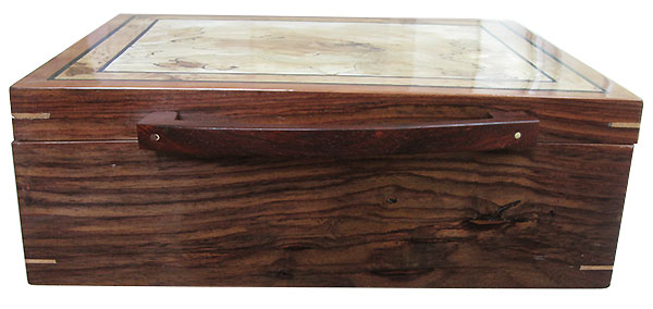 Indian rosewood box front - Handmade large keepsake box