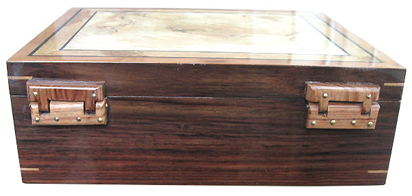 Handmade wood box back with rustic 