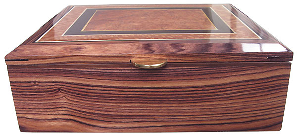 Honduras rosewood box front - Handcrafted  large wood keepske box