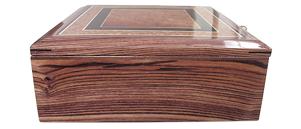 Honduras rosewood box side - Handcrafted wood box