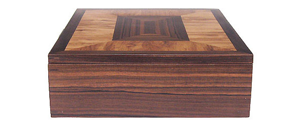 Decorative wood large keepsake box - side view