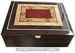 Handcrafted wood box - Keepsake box L-51