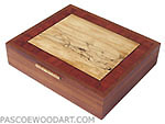 Large keepsake box - handcrafted wood box made of Afromosia, bubinga, spalted maple