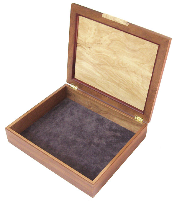 Large keepsake box, letter box - open view