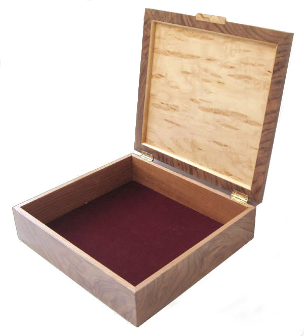 Wood keepsake box open view