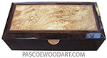 Handcrafted wood box - Keepsake box made of venge with spalted maple burl center top