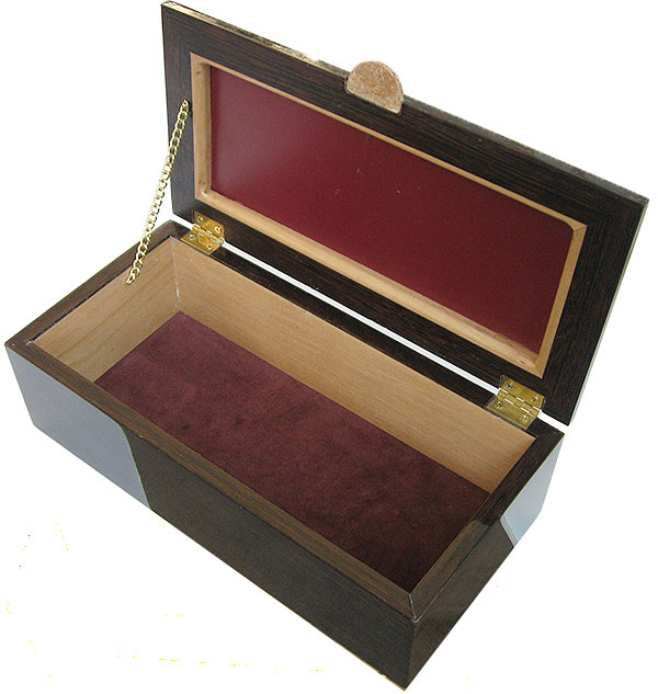 Handcrafted wood box - Keepsake box open view
